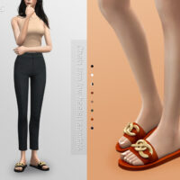 Trim low heeled sandals Sims 4