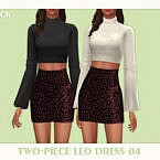 Two Piece Leo Dress 04 by Black Lily