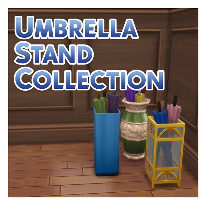 Sims 4 Umbrella Stand Collection by Menaceman44 at Mod The Sims