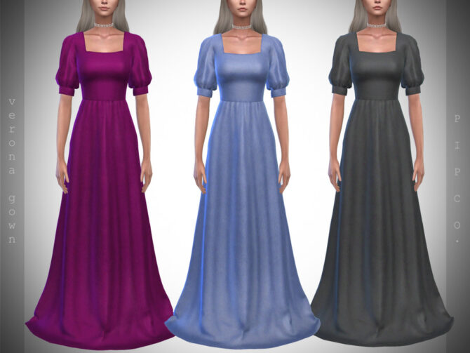 Sims 4 Verona Gown II by Pipco at TSR