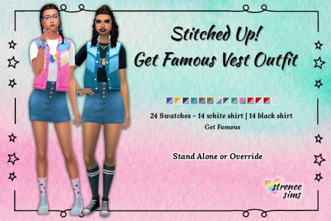 Vest Skirt Sims 4 Get Famous