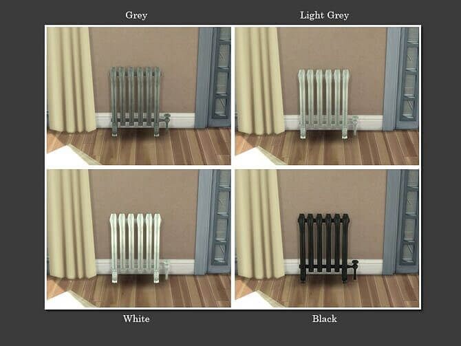 Sims 4 Vintage Radiator Heater by Teknikah at Mod The Sims