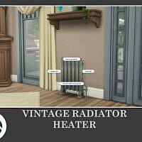 Vintage Radiator Heater Sims 4