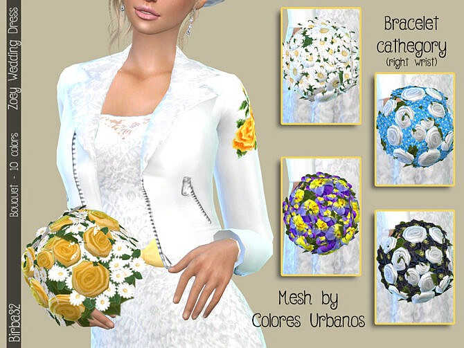 Wedding bouquet for Sims 4 by Birba32