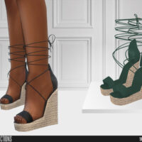 Wedge sandals Sims 4