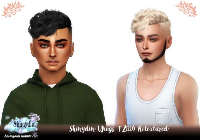 Sims 4 Wings TZ1110 Hair Retexture at Shimydim Sims
