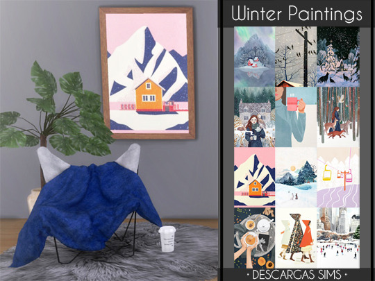 Sims 4 Winter Paintings at Descargas Sims
