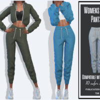 Women Suit Sims 4 Pants