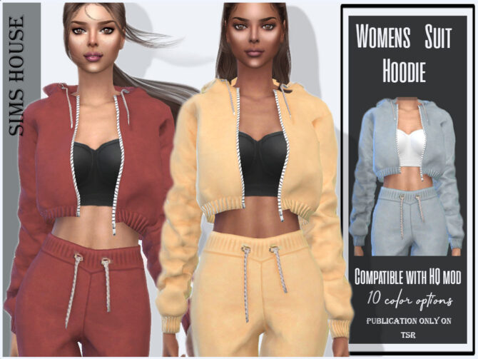 Womens Suit Hoodie by Sims House