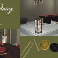 Zen Dining Sims 4 Set