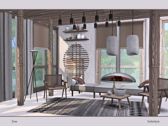 Zoe furniture set for Sims 4 by soloriya