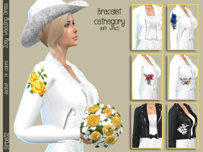 Zoey Roses Jacket Sims 4 Accessory
