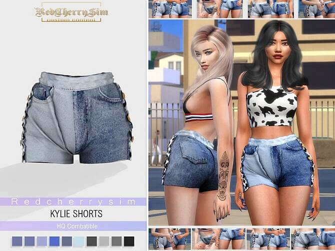 Sims 4 Kylie Shorts by redcherrysim at TSR