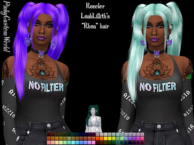 Recolor Of Leahlillith's Rhea Hair By Pinkycustomworld