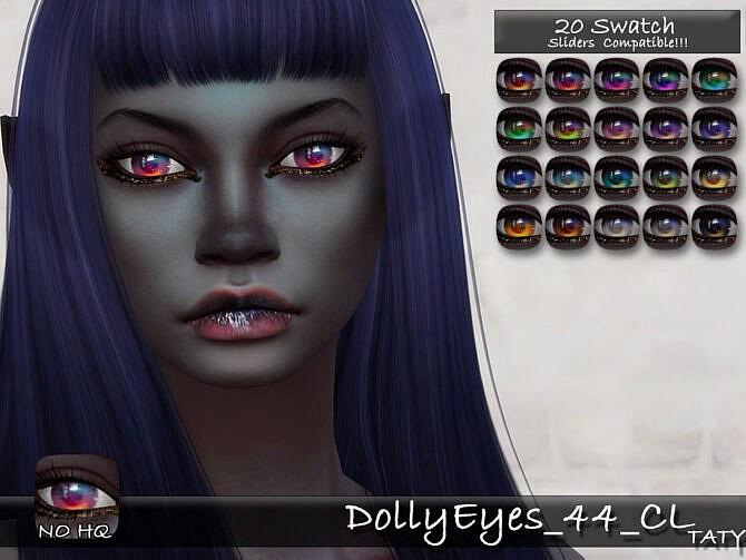 Sims 4 Dolly Eyes 44 CL by tatygagg at TSR