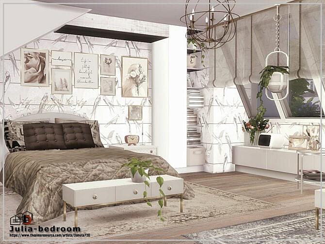 Sims 4 Julia bedroom by Danuta720 at TSR