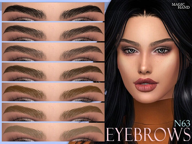 Sims 4 Eyebrows N63 by MagicHand at TSR
