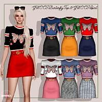 Burterfly Top & Skirt