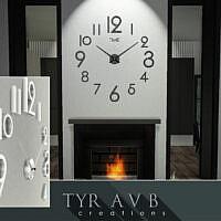 3d Wall Clock By Tyravb