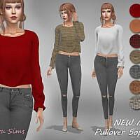 Pullover Sophia 1 New Mesh By Jaru Sims