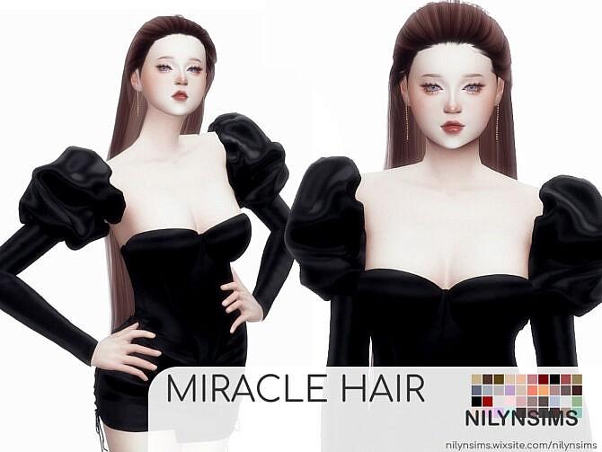 Sims 4 MIRACLE HAIR at Nilyn Sims 4