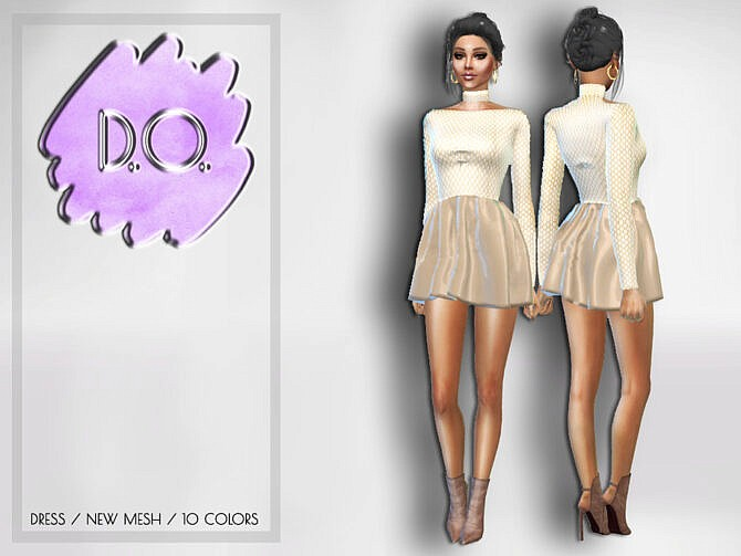 Sims 4 Dress 53 by D.O.Lilac at TSR