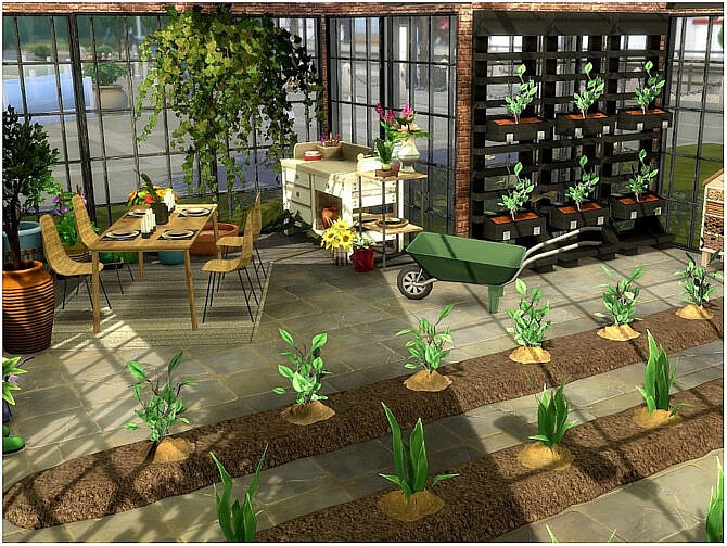 Sims 4 Green House by lotsbymanal at TSR
