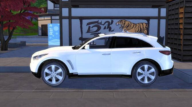 Sims 4 2012 Infiniti FX50 at Modern Crafter CC