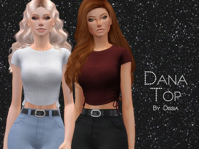 Sims 4 Dana Top by Dissia at TSR
