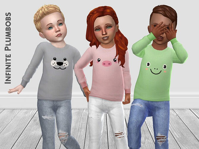 Sims 4 Toddler Animal Face Jumper by InfinitePlumbobs at TSR