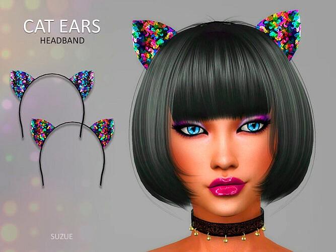 Cat Ears Headband By Suzue