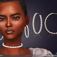 Crystal Hoop Earrings By Feyona