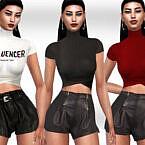 Leather Shorts By Saliwa