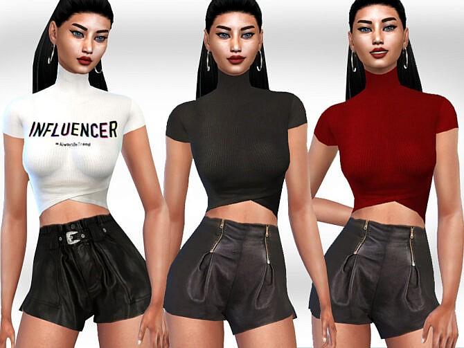 Sims 4 Leather Shorts by Saliwa at TSR