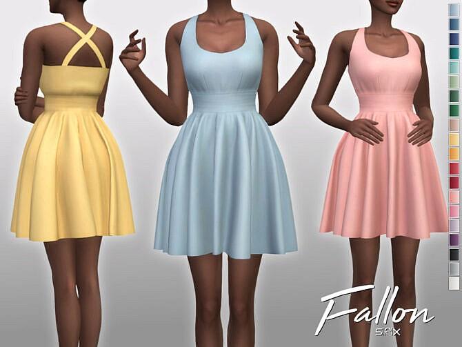Sims 4 Fallon Dress by Sifix at TSR