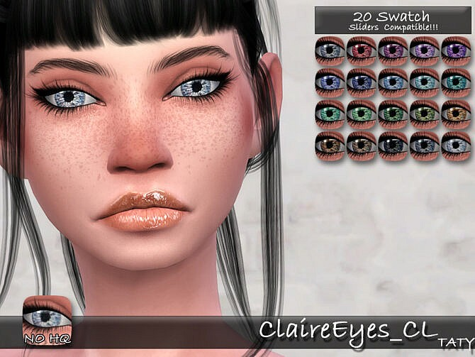 Sims 4 Claire Eyes CL by tatygagg at TSR