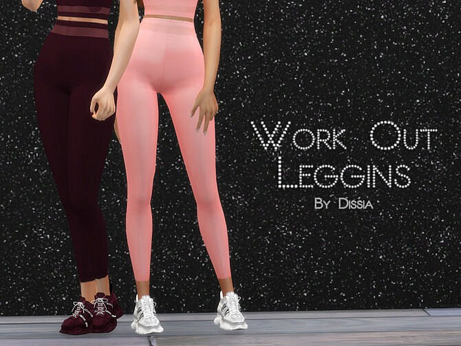 Sims 4 Work Out Leggings by Dissia at TSR