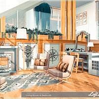Loft Living Room & Bedroom By Moniamay72