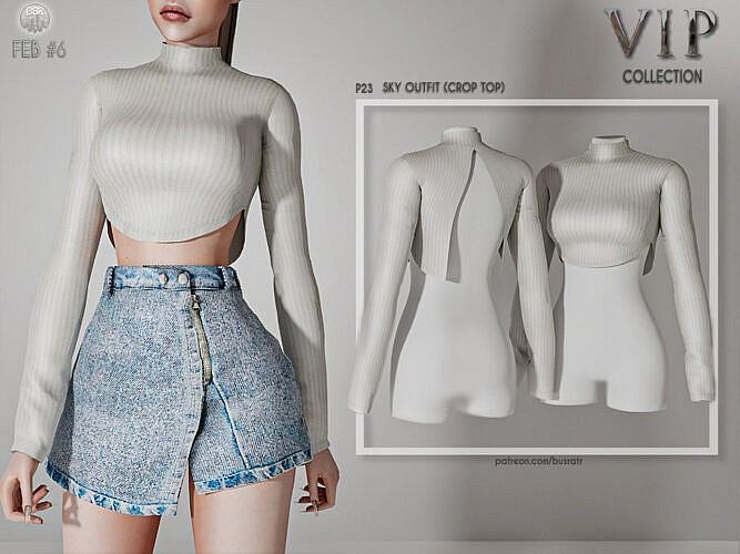 Sky Outfit (crop Top) P23 By Busra-tr