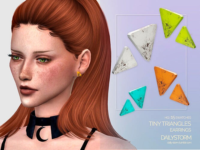 Tiny Triangles Earrings By Dailystorm