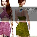 Danna Scarf Skirt By Carvin Captoor