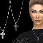 Diamond Pave Cross Pendant By Natalis