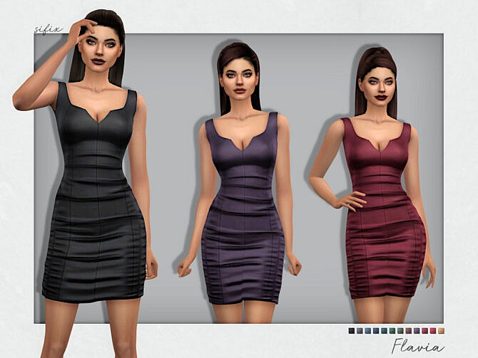 Sims 4 Flavia Party Dress by Sifix at TSR