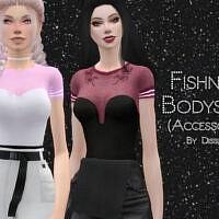 Fishnet Bodysuit By Dissia
