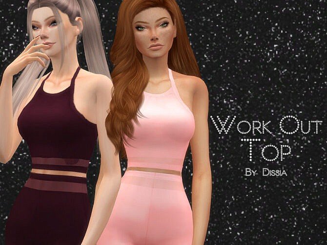Sims 4 Work Out Top by Dissia at TSR