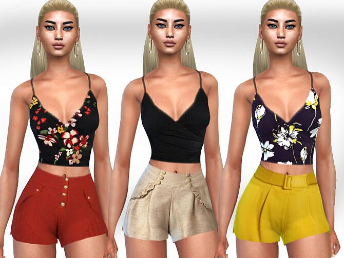 Sims 4 Summer Style Floral Tops by Saliwa at TSR