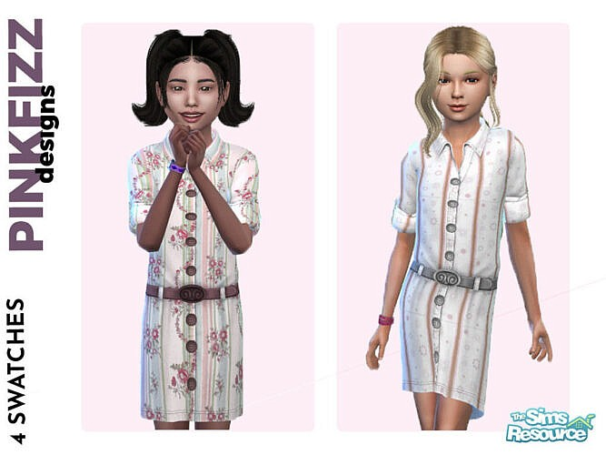 Spring Shirt Dress By Pinkfizzzzz