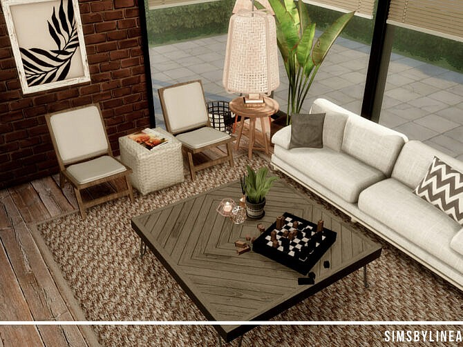 Sims 4 Industrial Living Room II by SIMSBYLINEA at TSR