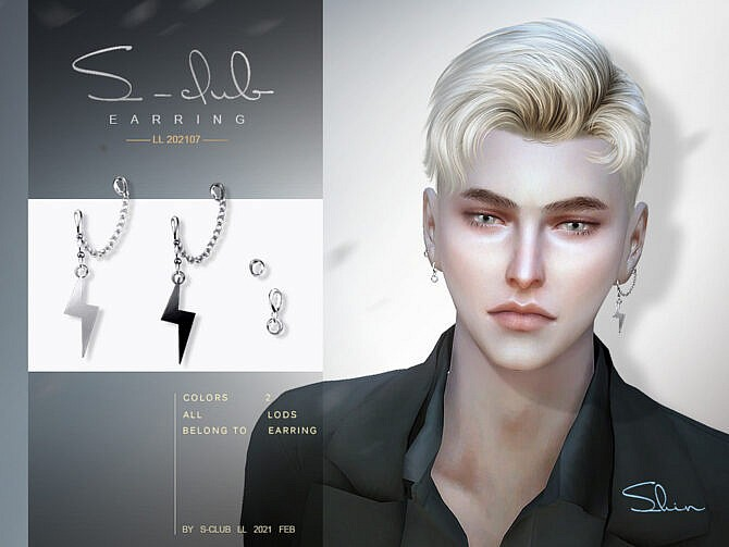 Sims 4 EARRINGS 202107 by S Club LL at TSR