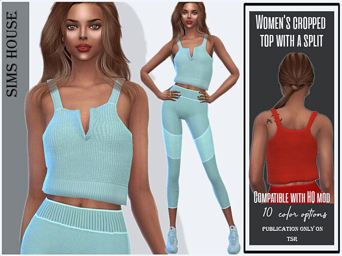 Cropped Top With A Split By Sims House